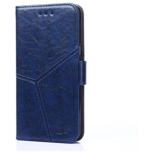 Фото - Чехол-книжка MyPads для LG G6 mini / LG Q6 / LG Q6 Plus / LG Q6a M700 прошитый по контуру с необычным геометрическим швом синий чехол книжка lg quick circle для lg g4 оригинальный аксессуар white