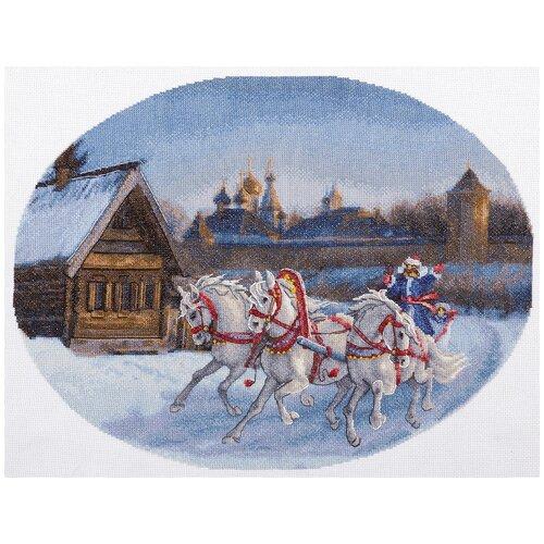Купить Набор для вышивания PANNA S-1530 ( С-1530 ) Три белых коня 1 шт., Наборы для вышивания