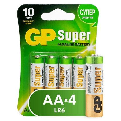 Фото - Батарейки GP Super AA/LR6/15A алкалин. бл/4шт 2 шт. батарейки lr6 aa щелочные 10 шт