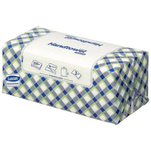 Купить Полотенца бумажные листовые Luscan Professional 2-слойные 200 лист / уп 2 шт.