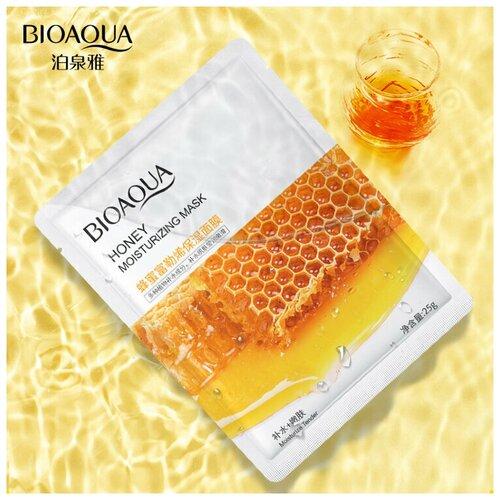 BioAqua Тканевая маска для лица с медом Honey Moisturizing Mask, 25г недорого