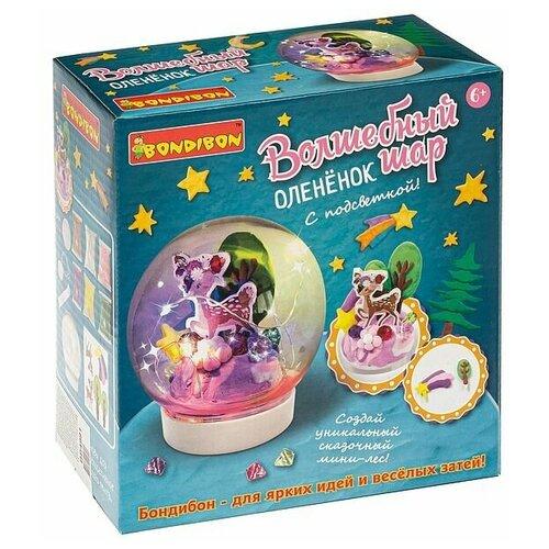 Купить Набор для творчества BONDIBON, Волшебный шар. Оленёнок ( с подсветкой), Поделки и аппликации