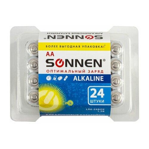 Батарейка Sonnen AA/LR06 (1.5 В) алкалиновая (пластик.короб, 24шт.) 2 уп. (455095)