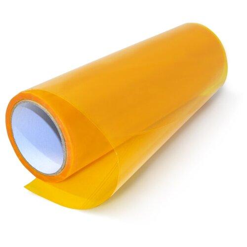 Пленка для фар защитная автомобильная, глянцевая - 30х97 см, цвет: оранжевая