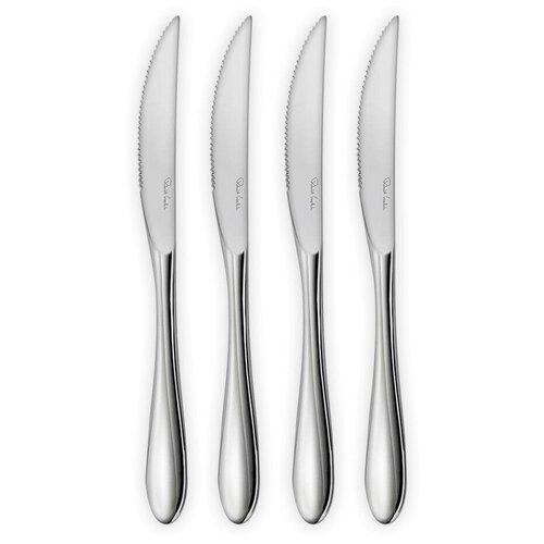 Фото - Набор из 4-х ножей для стейка Bourton Bright 24 см, нержавеющая сталь 18/10, Robert Welch, BORBR1012V/4 набор ножей для стейка robert welch kingham bright 4 шт