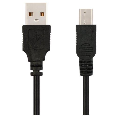 Кабель для видеорегистратора/жесткого диска/фотоаппарата/автомобиля USB VIXION (J3) mini USB (1м) (черный)