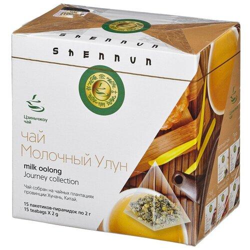 Чай Shennun Молочный Улун зеленый, 15 пакетиков 14104 2 шт.
