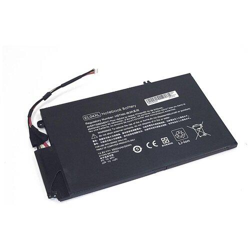 Аккумуляторная батарея (аккумулятор) EL04XL для ноутбука HP Envy TouchSmart 4 14.8V 52Wh черная