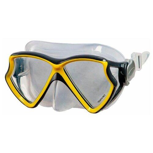 Фото - Маска для плавания Intex Silicone Aviator Pro Mask желтая, от 8 лет набор для плавания intex aqua pro серый
