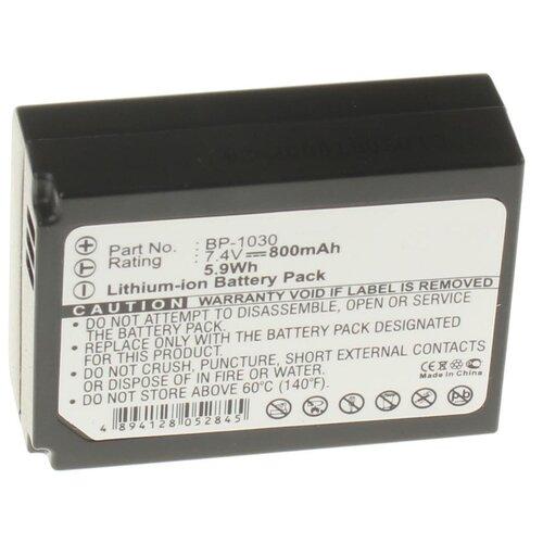 Фото - Аккумуляторная батарея iBatt 850mAh для BP1130, BP-1030, ED-BP1030 аккумуляторная батарея ibatt 850mah для pentax praktica samsung klic 7005 np 40n