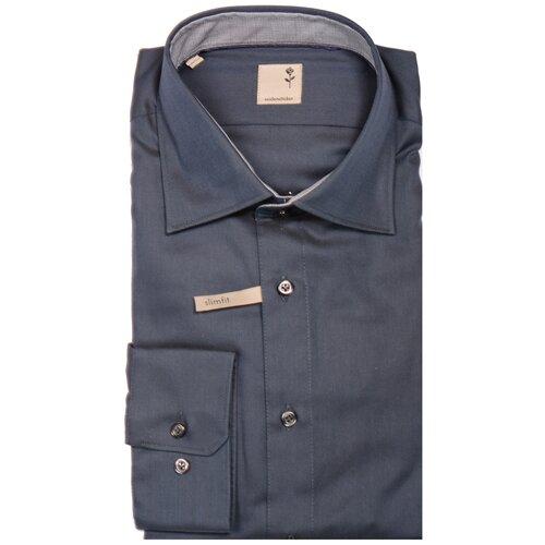 Рубашка Seidensticker размер 40 серо-зеленый