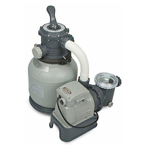 Песочный фильтр-насос Krystal clear 8000 л/час, 220–240 Вольт, Intex, арт. 26648 песочный фильтр насос intex 26644 krystal clear 4 5м3 ч резервуар для песка 12кг
