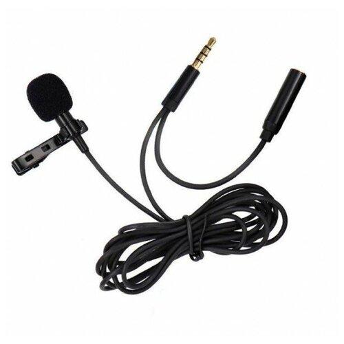 Микрофон CANDC DC-C5, петличный, Jack 3.5mm+AUX, черный