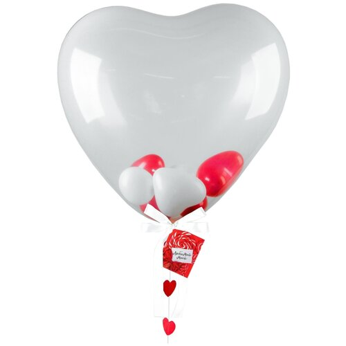 Набор воздушных шаров Страна Карнавалия Сердце (5 шт.) прозрачный страна карнавалия набор бумажной посуды с днем рождения маленький джентельмен 3877347 19 шт голубой