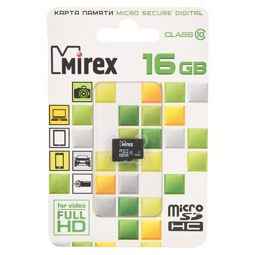 Фото - Карта памяти 16Gb - Mirex - Micro Secure Digital HC Class 10 13612-MC10SD16 (Оригинальная!) карта памяти 8gb mirex micro secure digital hc class 10