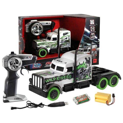 Машина радиоуправляемая BeBoy Тягач без прицепа, зеленый