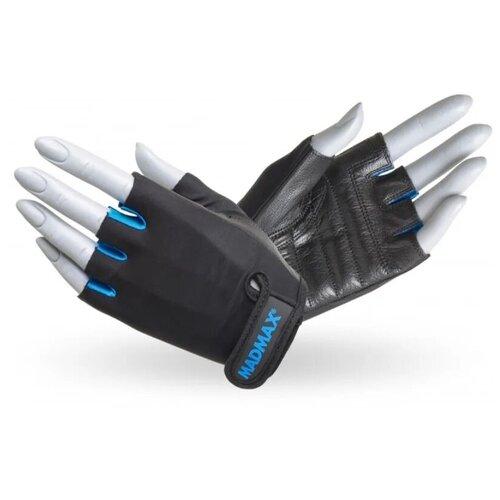 Перчатки для фитнеса / перчатки спортивные Rainbow MAD MAX, натуральная кожа, синие L