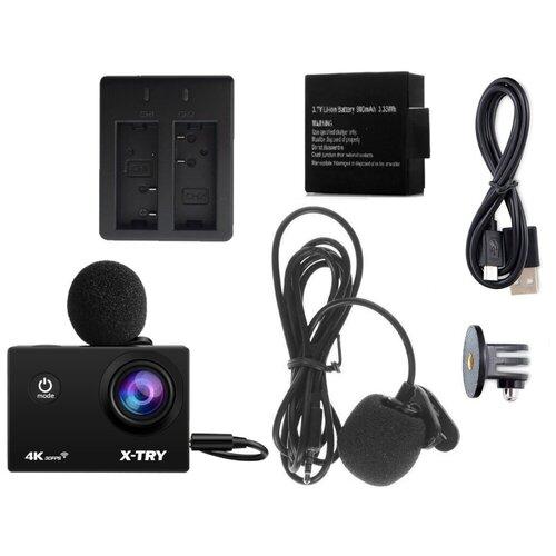 Фото - Экшн-камера X-TRY XTC182 EMR Power Kit 4K WiFi экшн камера r wings air 4k wifi rwc001