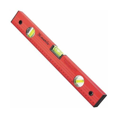 Уровень 1000 мм MATRIX 3 глазка, линейка, алюминиевый, красный, 33229 уровень брусковый 3 глаз matrix 34201 60 см