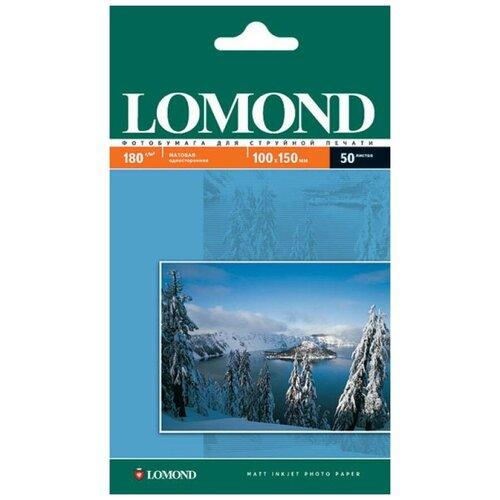 Фото - Фотобумага Lomond 100x150 180g/m2 матовая односторонняя 50 листов 102063 фотобумага lomond a3 230g m2 глянцевая односторонняя 50 лист