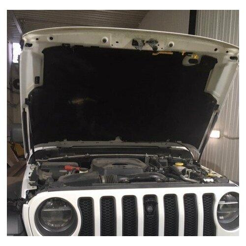 Упоры капота газовые к-т JEEP WRANGLER газовые упоры капота автоупор для jeep renegade 2014 2018 2 шт ujeeren011