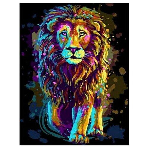 Купить Картина по номерам на холсте Paintboy Сияющий лев , 40х50 см, GX-38474, Картины по номерам и контурам