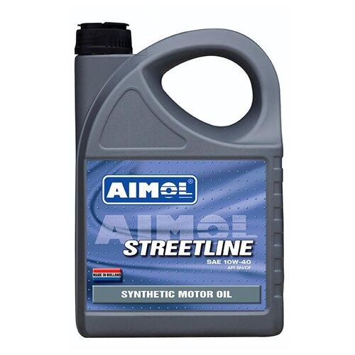 Масло моторное AIMOL Streetline 10w-40 (4л) полусинтетическое моторное масло aimol streetline 10w 40 1 л