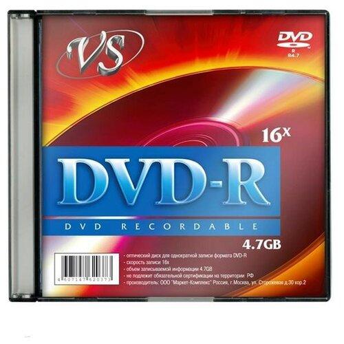 Носители информации DVD-R, 16x, VS, Slim/5, VSDVDRSL501 2 шт.