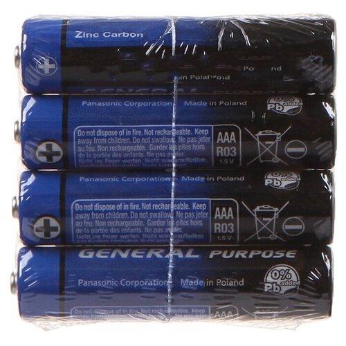 Фото - Батарейка AAA - Panasonic R03 SR-4 (4 штуки) батарейка фаza aaa r03 heavy duty 4 шт
