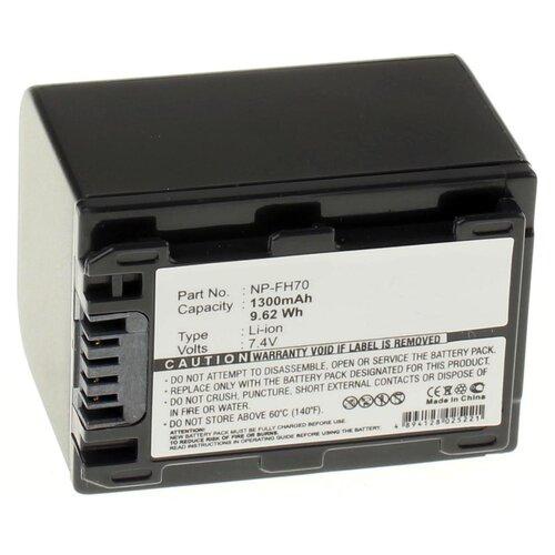 Фото - Аккумуляторная батарея iBatt 1300mAh для Sony DCR-DVD805, DCR-SR190E, DCR-SR70E, HDR-CX6EK аккумулятор ibatt ib u1 f324 3300mah для sony dcr sr62 dcr sr300 hdr hc7 hdr ux5 dcr sr100 hdr ux7 dcr sr45 hdr sr11e dcr sr65 hdr sr10e dcr sx40 dcr dvd610e dcr dvd106e dcr sr42 dcr sr47 hdr sr12e