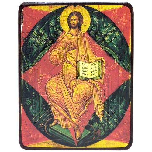 Икона Спас в силах (Подажь Боже) копия Андрея Рублева, размер 6 х 9 см