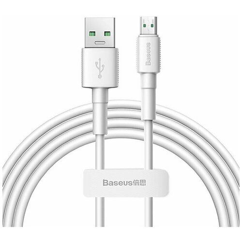 Кабель USB-Micro Baseus Mini White White 2m 4A аксессуар baseus mini white usb microusb 4a 1m white camsw d02