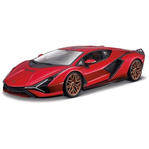 Bburago Машинка металлическая Lamborghini Sián FKP 37, 1:18, красная