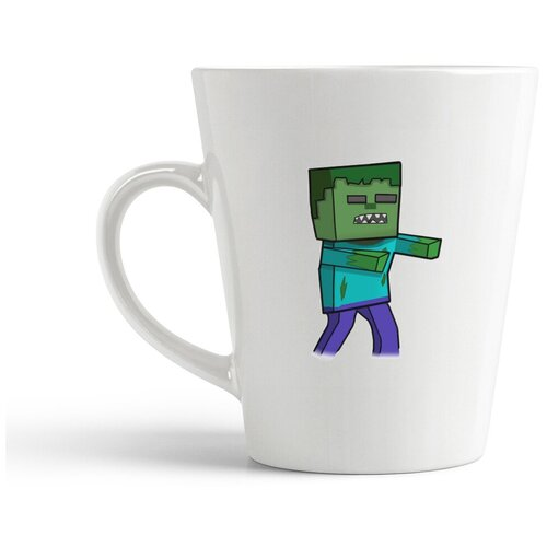 Кружка-латте CoolPodarok Майнкрафт Minecraft (зомби)