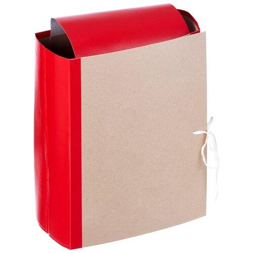 Купить Папка архивная Attache корешок 12 см, 4 завязки, красная (54815), Файлы и папки
