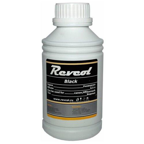 чернила для canon revcol gi 490 black dye 135 мл Чернила универсальные Revcol для HP, Canon, Lexmark, 500мл, Black