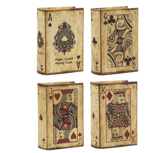 Шкатулки в виде книг, набор 4 предмета 14x10x5см
