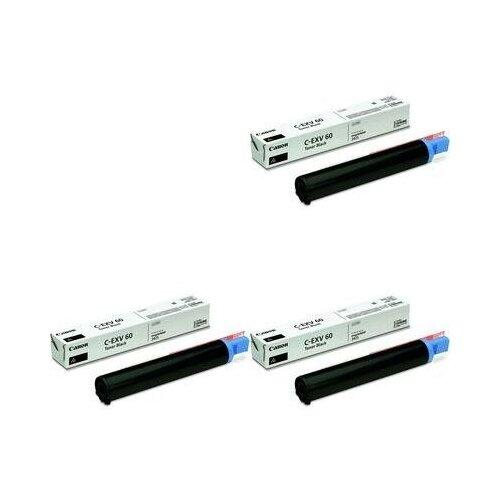 Canon C-EXV60 BK Toner 3 Pack (4311C001-3PK) Картриджи комплектом C-EXV 60 BK черный 3 упаковки [выгода 3%] Black 30К для imageRUNNER 2425, 2425i