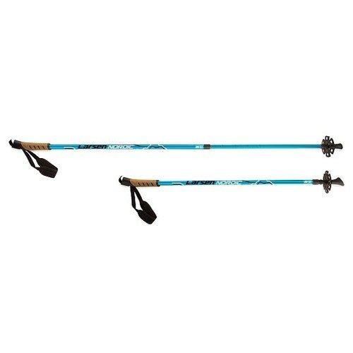 Фото - Палки для скандинавской ходьбы Larsen Nordic Blue раздвижные 90-140см голубой палки для скандинавской ходьбы larsen camping