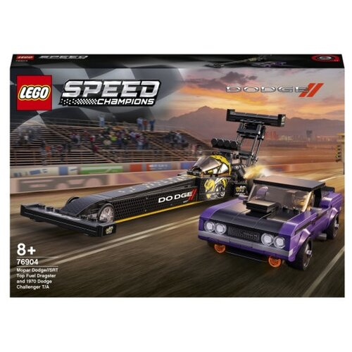 Фото - Конструктор LEGO Speed Champions 76904 Mopar Dodge SRT Top Fuel Dragster и 1970 Dodge Chal lego lego speed champions mopar dodge srt dragster and 1970 dodge challenger t a