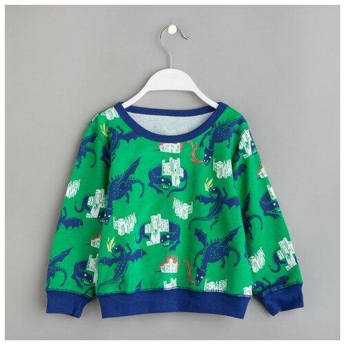 Купить Свитшот Minaku размер 86-92, зелeный, Джемперы и толстовки