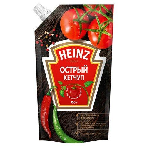 Фото - Кетчуп Heinz Томатный острый дой-пак, 350 г 2 шт. кетчуп томатный heinz чеснок и пряности