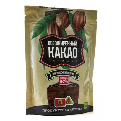 Продуктовая аптека Какао Порошок Обезжиренный 0-2% Продуктовая Аптека, 150г