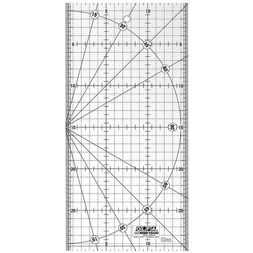 Линейка для пэчворка, градация в сантиметрах 15 х 30 см Olfa MQR-15x30