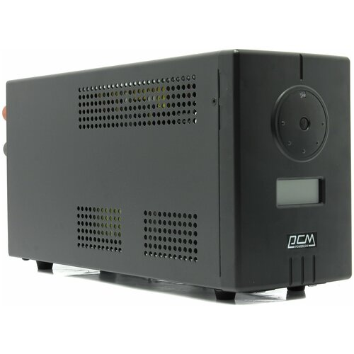 UPS PowerCom INF-800(AP) {Line-Interactive, 800VA / 480W, Tower, Schuko, LCD, USB, подкл. доп. батарей}