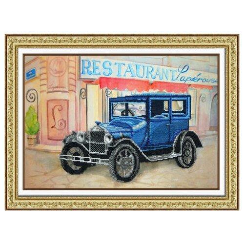 Набор для вышивания бисером паутинка арт.Б-1481 Ретро Форд 38х26 см