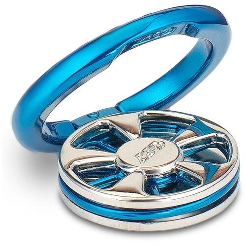 Кольцо держатель для телефона / Спинер / 34 мм Бело-синий