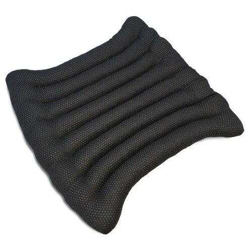 BIO-TEXTILES Эко-Подушка с массажным эффектом на стул 40*40 лузга гречихи, грета/бязь