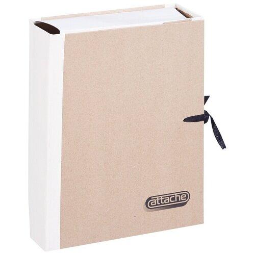 Папка архивная Attache крафт-коленкор, корешок 8 см, 4 завязки (23855), Файлы и папки  - купить со скидкой