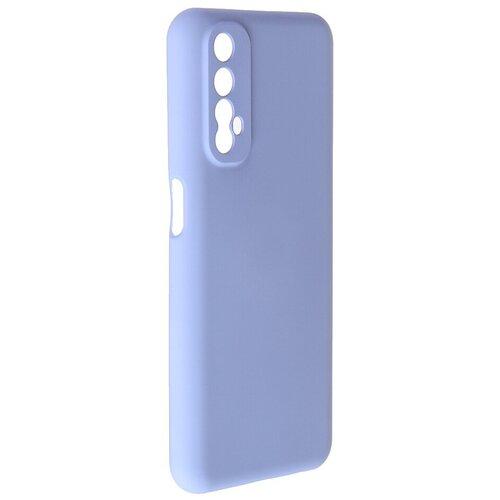 Чехол Pero для Realme 7 Liquid Silicone Light Blue PCLS-0057-LB